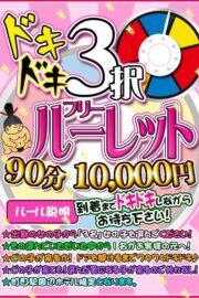 ☆ドキドキ3択フリールーレット☆  【90分 10000円】